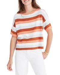 Madewell - Multicolor Stripe Boxy Sweater Tee - Lyst