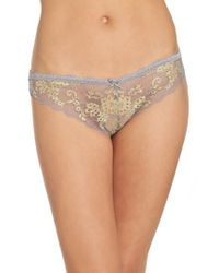 Honeydew Intimates - Natural Camellia Lace Thong - Lyst