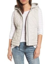 Andrew Marc - Natural Sage Hooded Quilted Vest - Lyst