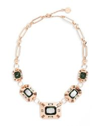 Vince Camuto - Metallic Frontal Necklace - Lyst