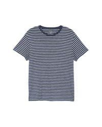 J.Crew - Blue Stripe Slub Cotton T-shirt for Men - Lyst