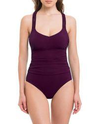 Gottex Purple Java One-piece Swimsuit