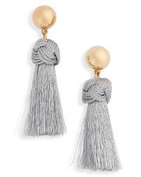J.Crew - Multicolor Ball & Tassel Earrings - Lyst