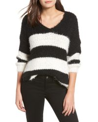 Dreamers By Debut - Multicolor Eyelash Chenille Stripe Sweater - Lyst