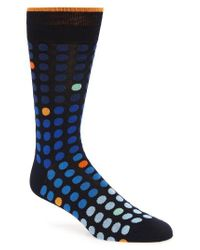 Bugatchi | Blue Polka Dot Crew Socks for Men | Lyst