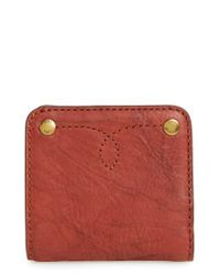 Frye | Red Small Campus Rivet Leather Wallet | Lyst