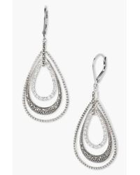 Judith Jack - Metallic Orbital Triple Teardrop Hoop Earrings - Lyst