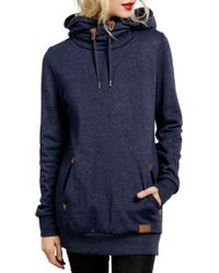 Volcom | Blue Walk On By Funnel Neck Hoodie | Lyst