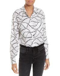 Equipment - White Signature Silk Shirt - Lyst