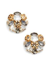 Kate Spade - Metallic Cluster Stud Earrings - Lyst