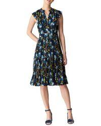 Whistles - Blue Celia Iris Pleat Dress - Lyst