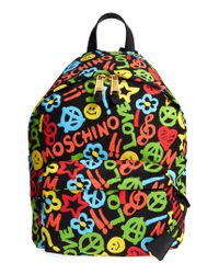 Moschino | Black Archive Print Tactel Nylon Backpack | Lyst