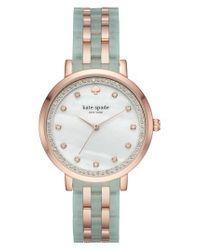 Kate Spade - Multicolor Monterey Crystal Dial Bracelet Watch - Lyst