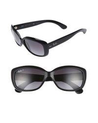 Ray-Ban | Gray 58mm Polarized Sunglasses | Lyst