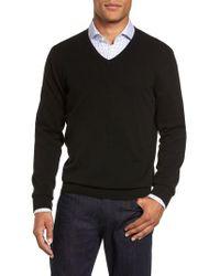 John W. Nordstrom | Black John W. Nordstrom Cashmere V-neck Sweater for Men | Lyst