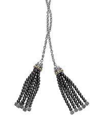 Lagos - Metallic 'caviar Icon' Lariat Necklace - Lyst
