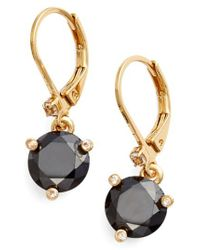 Kate Spade - Black 'rise And Shine' Lever Back Earrings - Lyst