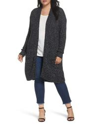 Caslon | Black Caslon Mixed Stitch Cardigan | Lyst