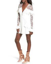 171612c88af8 Lyst - For Love & Lemons Rosebud Minidress in White