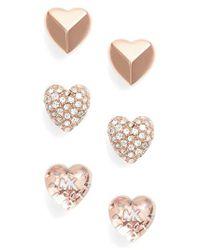 Michael Kors - Metallic Set Of 3 Stud Earrings - Lyst