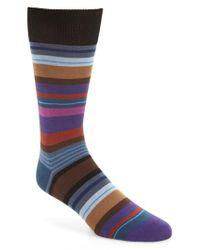 Paul Smith | Black Halentoe Stripe Socks for Men | Lyst