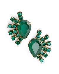 Loren Hope - Green Olivia Stud Earrings - Lyst