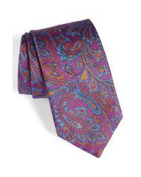 David Donahue | Purple Paisley Silk Tie for Men | Lyst