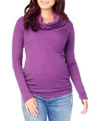 Ingrid & Isabel | Purple Ingrid & Isabel Cowl Neck Maternity Tee | Lyst