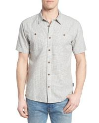 Patagonia | Gray 'back Step' Regular Fit Check Short Sleeve Sport Shirt for Men | Lyst