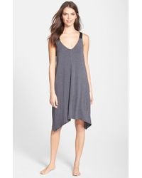 DKNY - Gray 'urban Essentials' Jersey Chemise - Lyst