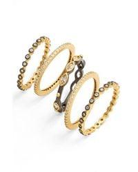 Freida Rothman   Metallic Delicate Stackable Rings (set Of 5)   Lyst