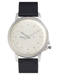 Miansai | Metallic 'm12' Round Leather Strap Watch | Lyst