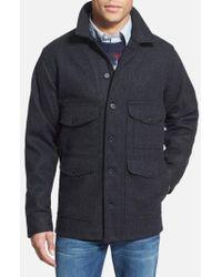 Filson Blue 'mackinaw Cruiser' Wool Jacket for men