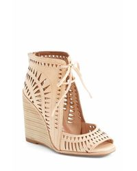 Jeffrey Campbell - Red Rodillo Leather Wedge Sandals - Lyst