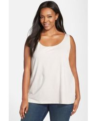 NIC+ZOE | Natural 'modern Perfect' Knit Tank | Lyst