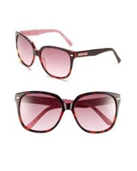 Lilly Pulitzer - Pink Lilly Pulitzer 'courtney' 58mm Sunglasses - Lyst