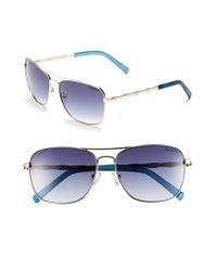 Lilly Pulitzer | Metallic Lilly Pulitzer 'cambridge' 59mm Aviator Sunglasses | Lyst