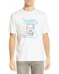 Travis Mathew - White 'sorry' Crewneck T-shirt for Men - Lyst
