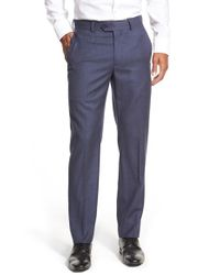 John W. Nordstrom | Blue Creased Wool Chinos for Men | Lyst