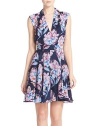 French Connection - Blue Fantasia Flower Dress - Lyst