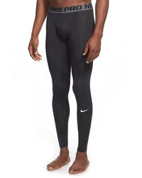 Nike | Black 'pro Cool Compression' Four-way Stretch Dri-fit Tights for Men | Lyst