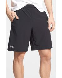 Under Armour | Black Launch Heatgear Woven Running Shorts for Men | Lyst