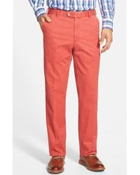 Peter Millar   Red 'raleigh' Washed Twill Pants for Men   Lyst