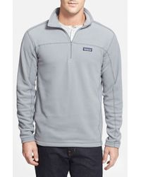 Patagonia - Gray 'micro D' Quarter Zip Front Pullover for Men - Lyst