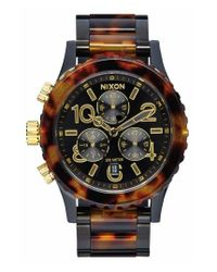 Nixon - Brown 'the 38-20' Extra Large Chronograph Bracelet Watch - Lyst