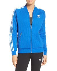Adidas Originals | Blue Originals 'superstar' 3-stripes Track Jacket | Lyst