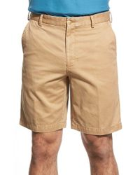 Peter Millar | Brown 'winston' Washed Twill Flat Front Shorts for Men | Lyst