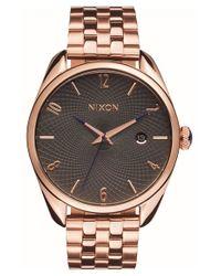Nixon | Pink 'bullet' Guilloche Dial Bracelet Watch | Lyst