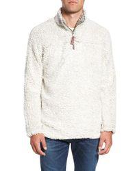 True Grit - White Frosty Tipped Quarter Zip Pullover for Men - Lyst