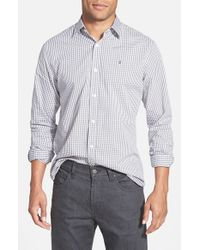 Victorinox - Gray Victorinox Swiss Army 'hagen Gingham Check' Tailored Fit Sport Shirt for Men - Lyst